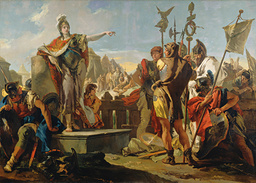 Giovanni Battista Tiepolo, Queen Zenobia Addressing Her Soldiers, Italian, 1696 - 1770, 1725/1730, oil on canvas, Samuel H. Kress Collection